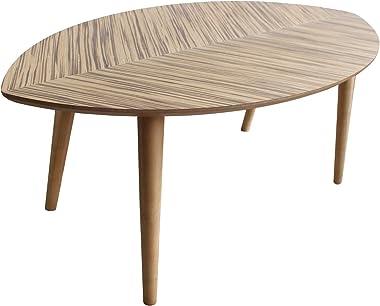 センターテーブル 幅80×奥行40×高さ32cm 【リーフタイプ】 ローテーブル おしゃれ 北欧 アジアン インテリア コーヒーテーブル ミニテーブル 木製 シンプル