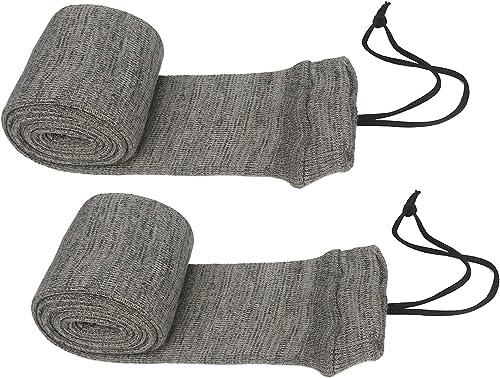 TOURBON Lot de 2 chaussettes de rangement en silicone traité à l'huile pour fusil de chasse 132 cm