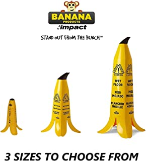 Wet Floor Sign, Banana Cone, Trilingual Wet Floor Sign Safety Cone, Yellow 36