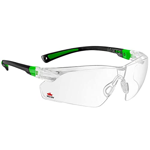 11b49b88215 NoCry Safety Glasses with Clear Anti Fog Scratch Resistant Wrap-Around  Lenses and No-
