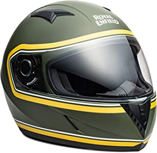 Royal Enfield Battle Green & Yellow Full Face With Visor Helmet Size (M)58 CM (RRGHEK000004)