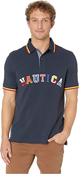 Fashion Collegiate Logo Polo