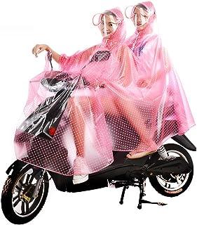 GETS(ゲッツ) レインコート レインポンチョ レインウェア レインカッパ ロータス式の撥水性 自転車 バイク スクーター ロング 通勤 通学 おしゃれ 完全防水 高品質 男女兼用 レディース メンズ 二人