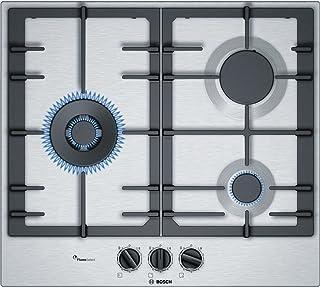 Bosch pcc6 a5b90 內置燃氣爐不銹鋼爐灶 - 板(內置,煤氣爐灶,不銹鋼,不銹鋼,鑄鐵,1000 W)