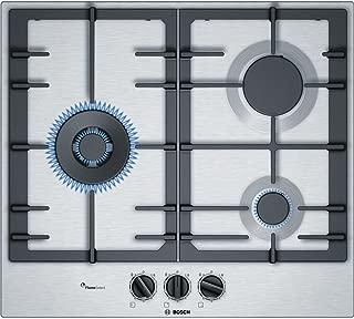Bosch pcc6 a5b90 内置燃气炉不锈钢炉灶 - 板(内置,煤气炉灶,不锈钢,不锈钢,铸铁,1000 W)