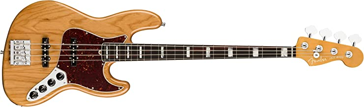 Fender American Ultra Jazz Bass Guitar (Aged Natural, Rosewood Fingerboard)