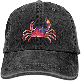 Colourful Crab Unisex Cowboy Trucker Cap with Dad Baseball Style Hat