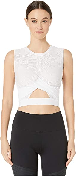 Sleeveless Crop Top with Crisscross Detail at Front
