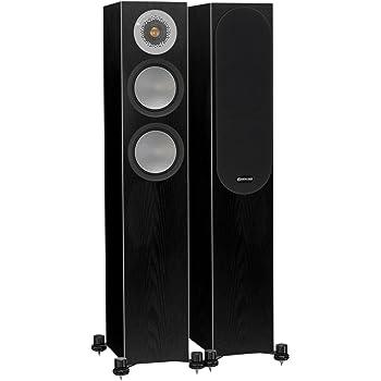 Monitor Audio Silver 200 Floorstanding Speaker Black Oak Pair