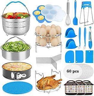 Aitbay 25Pcs Accessories for Instant Pot, 6, 8 Qt Instant Pot Accessories Only, 2 Steamer Baskets, 2 Divider, Springform P...