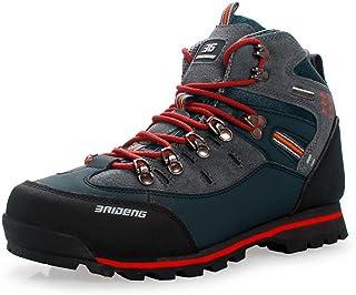 FOGUO Chaussures De Sport pour Hommes Chaussures De Sport Imperméables Montantes Bottes Chaudes d'hiver Adaptées Au Cross-...