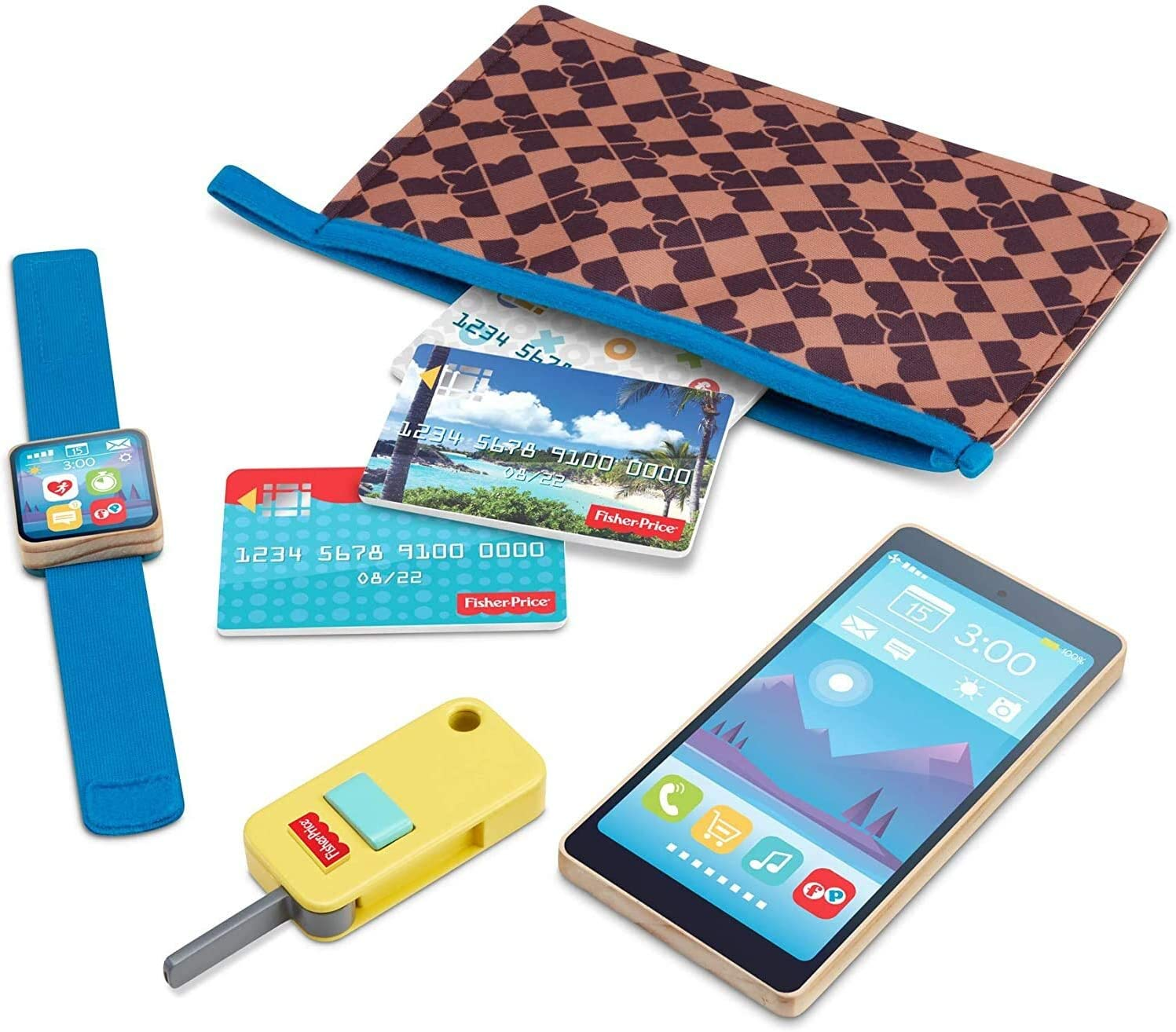 Fisher-Price On-The-Go Wallet - 7-Piece Set Fe Pretend Play Max 47% OFF Gift Max 84% OFF