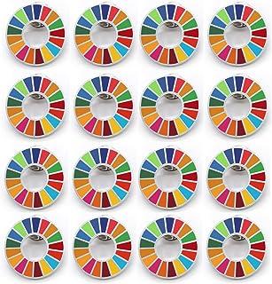 20個 SDGs バッジ ピンバッチ バッヂ 高級 SDGs ピンバッジ 珐琅彩 最新仕様 ピンバッジの留め具 銀色 人気 おしゃれ ギフト