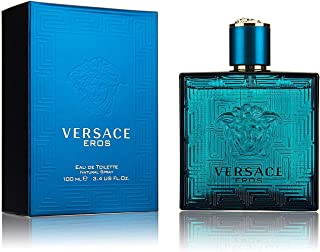 Versace Eros Eau de Toilette Spray for Men, 3.4 Fl Oz