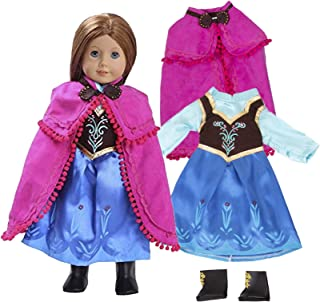 Anna Frozen Inspired Doll Outfit (3 Piece Set) - Clothes Fit American Girl & 18