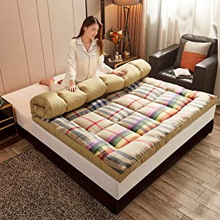 Vikbar tatami-madrass, quiltning av japansk futonmadrass, mjuk futongolvmadrass, rullning av tatami-golvmatta för barnmadr...