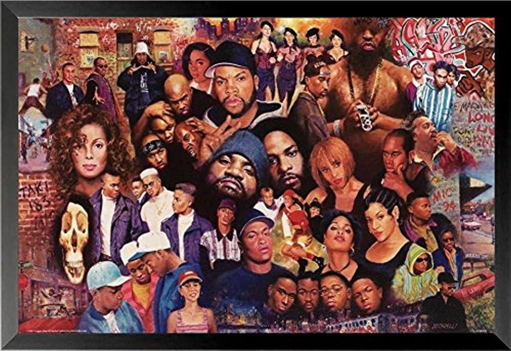 Buyartforless Framed quality assurance Legends of Rap and Super sale Hop 80'Sand 36x 90's Hip