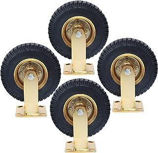 YJJT Zware wielen, Rubber zwenkwiel, Wieldiameter 200mm, 250mm, Maximale belasting per ronde 250kg, Stil, antislip, slijtv...