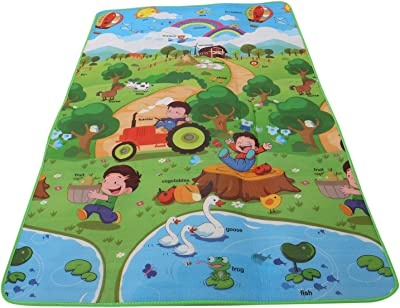 Kuber Industries Memory Foam Reversible Waterproof Kid's Crawling Play Mat - Multicolour (CTKTC05217)
