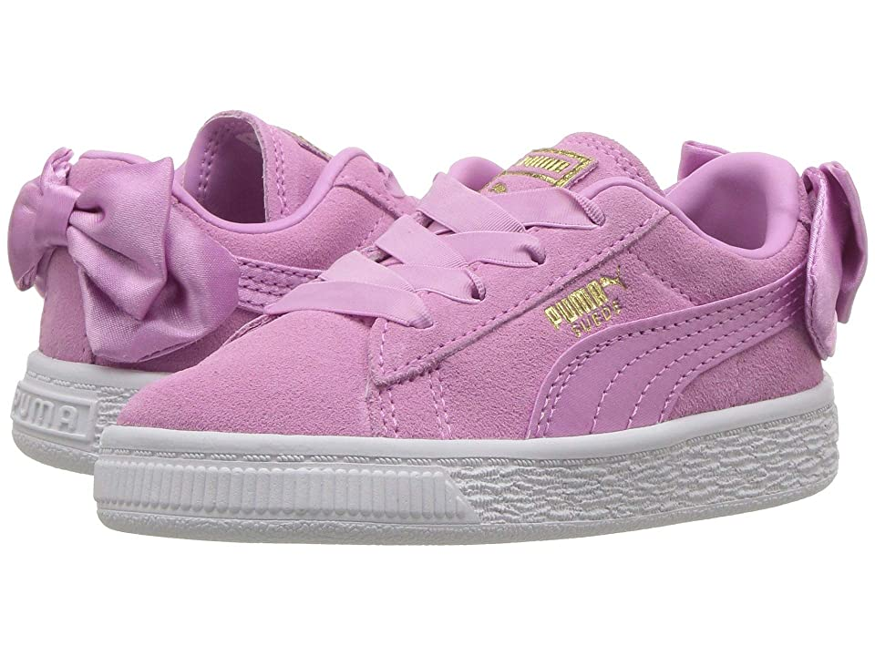 Puma Kids Suede Bow AC (Toddler) (Orchid/Orchid) Girl