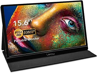 Portable Monitor - Lepow 15.6 Inch Full HD 1080P USB Type-C Computer Display IPS Eye Care Screen with HDMI Type C Speakers for Laptop PC PS4 Xbox Phone Included Smart Cover & Screen Protector Black