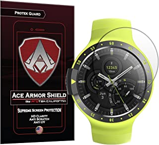 Ace Armor Shield TicWatch S and E Screen Protector (6-Pack), Ticwatch Sport/Express Full Coverage Screen Protector for Clear Anti-Bubble Film