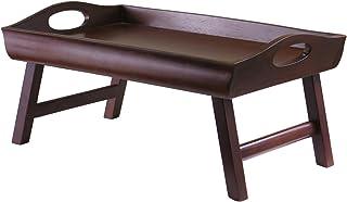 winsome wood sedona bed tray, antique walnut