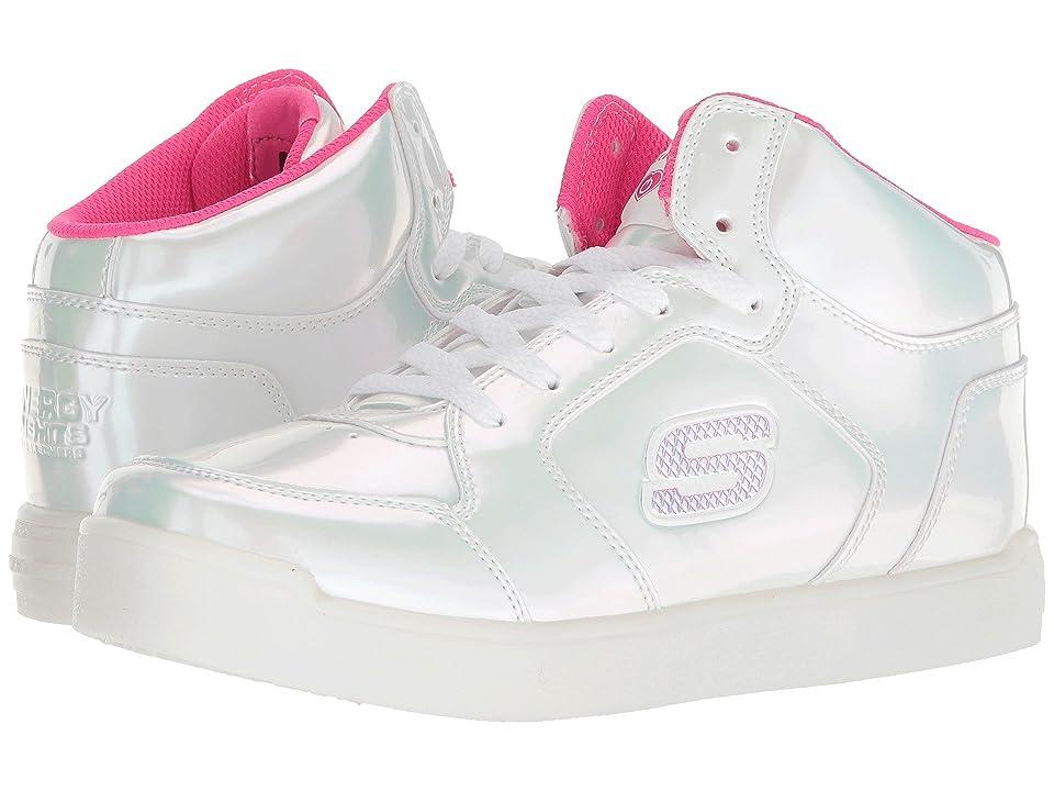 SKECHERS KIDS Energy 10942L Lights (Little Kid/Big Kid) (White/Hot Pink) Girl