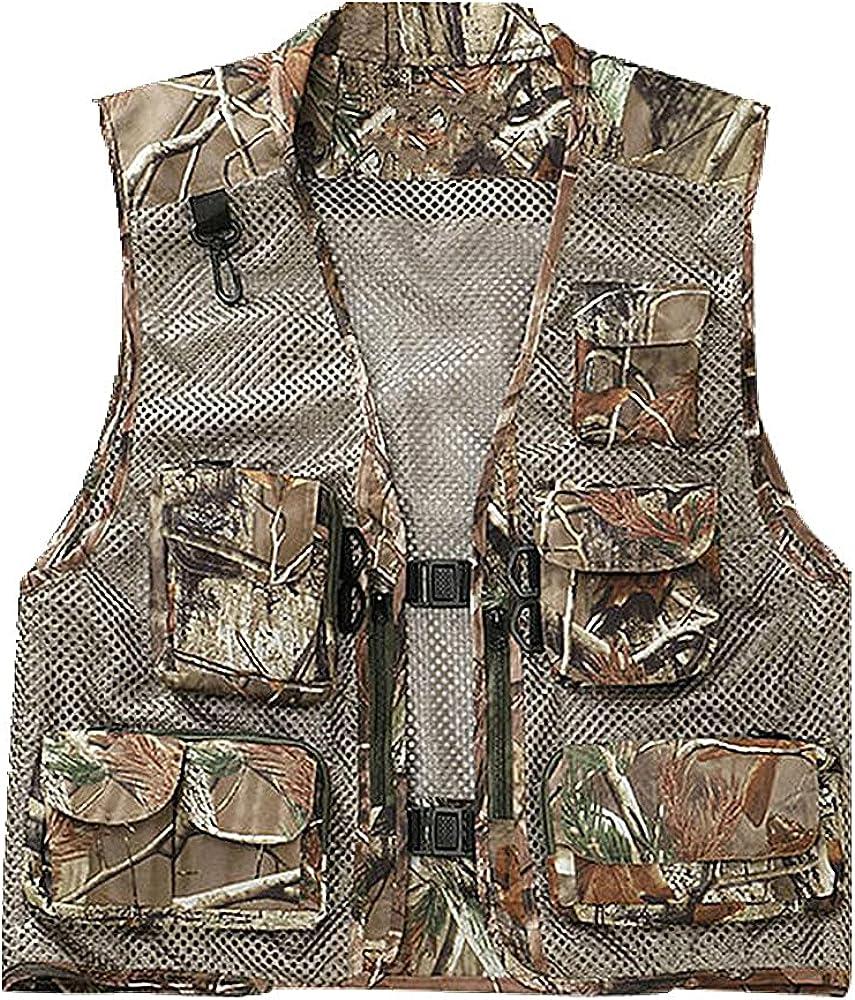 Men's Fishing Vest In stock Mesh Multi Zip Jacket half Outdoor Waistcoat