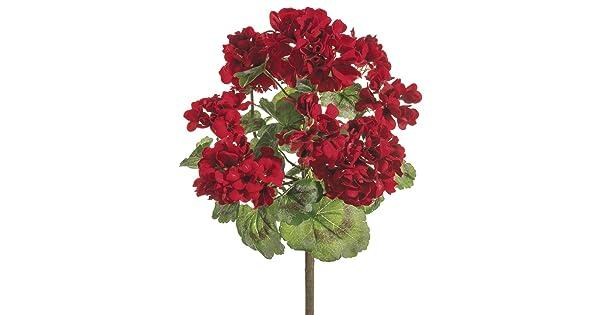 18 Inch Geranium Bush Red ALL FBG040-RE-UPC