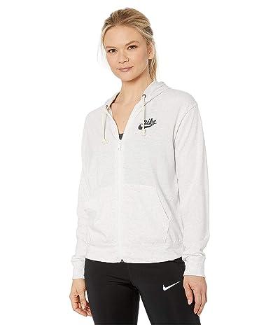 Nike NSW Gym Vintage Hoodie Full Zip (Birch Heather/Off-Noir) Women