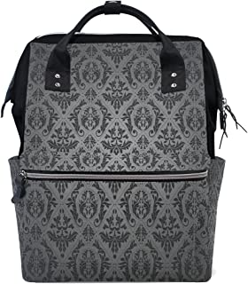 Diaper Bags Backpack Purse Mummy Backpack Fashion Mummy Maternity Nappy Bag Cool Cute Travel Backpack Laptop Backpack with Luxury European Flowers Pattern Daypack for Women Girls Kids