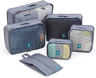 Grey 6 Pieces/Set Packing Cubes Suitcase Organizer
