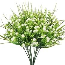 HOGADO Artificial Plants, 4pcs Faux Baby's Breath Fake Gypsophila Shrubs Simulation Greenery Bushes Wedding Centerpieces Table Floral Arrangement Bouquet Filler White