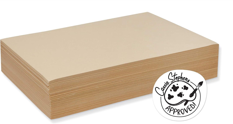 Pacon 4112 Cream Manila Drawing Paper, Economy 50-lb, 12 x 18, 5