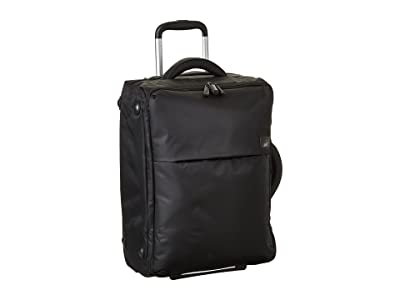 Lipault Paris 0% Pliable 22 Upright (Black) Carry on Luggage