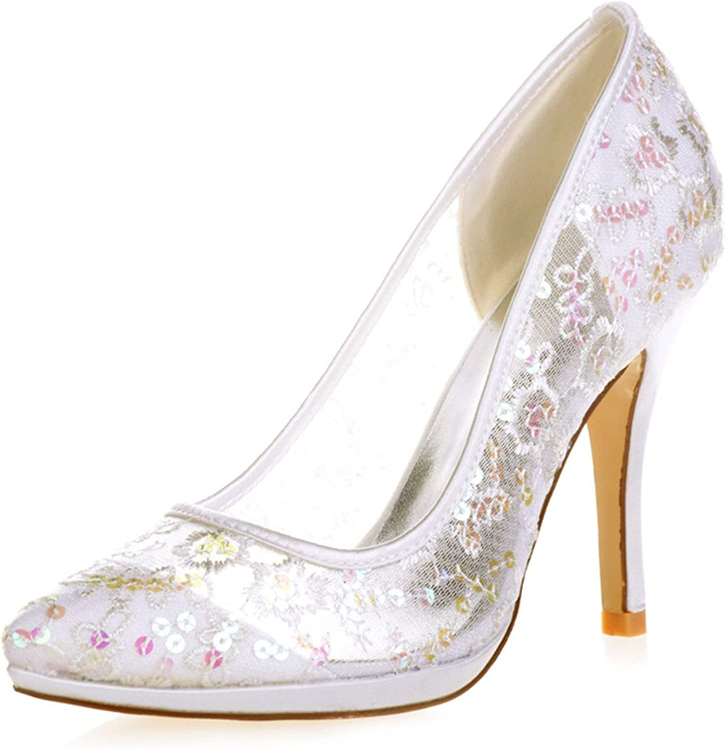 Uryouthstyle Sequins High Heels Stiletto Wedding shoes Bridal Pumps