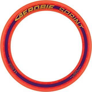 Aerobie Sprint Ring Outdoor Flying Disc, 10 Inches, Orange