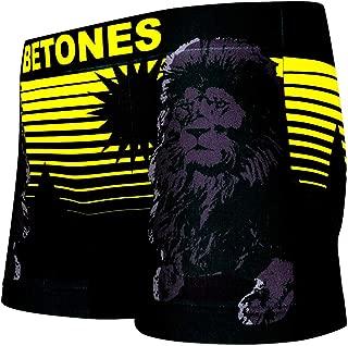 BETONES (ビトーンズ) メンズ ボクサーパンツ ANIMAL4 ライオン dwearsステッカー入り ローライズ アンダーウェア 無地 ブランド 男性 下着 誕生日 プレゼント