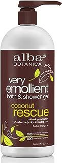 Alba Botanica Very Emollient Coconut Rescue Bath & Shower Gel, 32 oz.