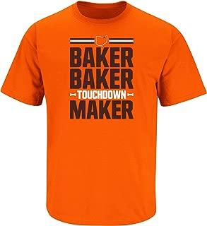 Cleveland Football Fans Baker Baker Touchdown Maker T-Shirt (Sm-5X)