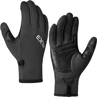 Winter Touchscreen Gloves Fleece Lined Goatskin Leather for Running Driving