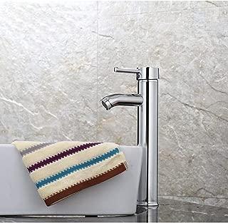 LIXIGA Basin Faucet Single Lever Monoblock Bathroom Basin Tall Mixer Tap, Chrome