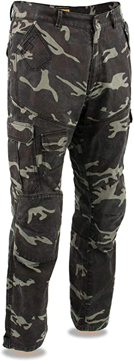 28 Milwaukee Leather MPM5592 Mens Armored Camo Cargo Jeans Reinforced with Aramid By Dupont Fibers