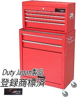 今だけSale【Duty Japan®】 2色選択 コンパクト収納型チェスト&キャビネット (レッド)