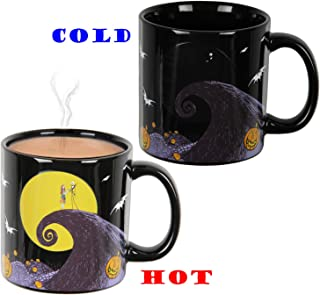Disney The Nightmare Before Christmas Moon Scene Heat Reactive Color Changing 20 OZ. Tea Coffee Mug