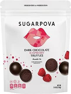 Sugarpova Dark Chocolate Raspberry Truffles, 6 Count Case