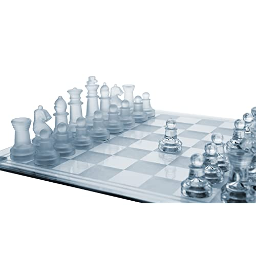 6efc25f6ace7e Amazon.com: GamieTM Glass Chess Set, 3 Sizes - 7.5