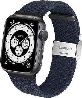 CGGA Pleciony Sport Kompatybilny z Apple Watch Bands 44mm 42mm 40mm 38mm, oddychająca regulowana pętla nylonowa z klamrą e...