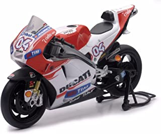 NEW 1:12 NEW RAY MOTORCYCLES COLLECTION - RED DUCATI MOTO GP 2015 DUCATI DESMOSEDICI - ANDREA DOVISIOSO #04 Model Car By NEW RAY TOYS